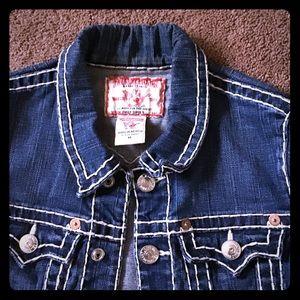 True Religion women's denim jacket- M
